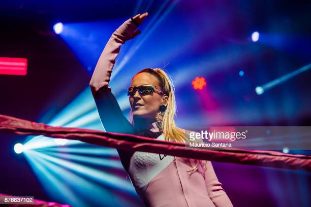 Claudia Leitte performs live on stage in Combatchy at Espaco das Americas on November 19 2017 in Sao Paulo Brazil
