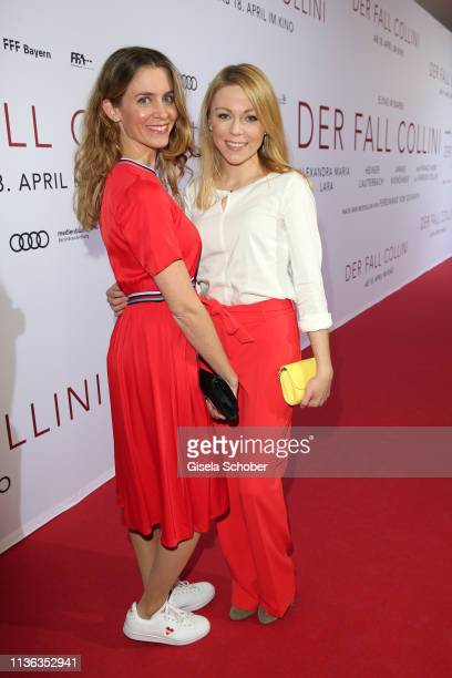 """Claudia Lenzi, Anna Ewelina during the """"Der Fall Collini"""" premiere at Mathaeser Filmpalast on April 11, 2019 in Munich, Germany."""