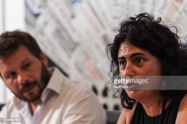 Claudia LodesaniFrederic Penard during the press conference of SOS Mediteranee in Rome Italy on August 2 2018