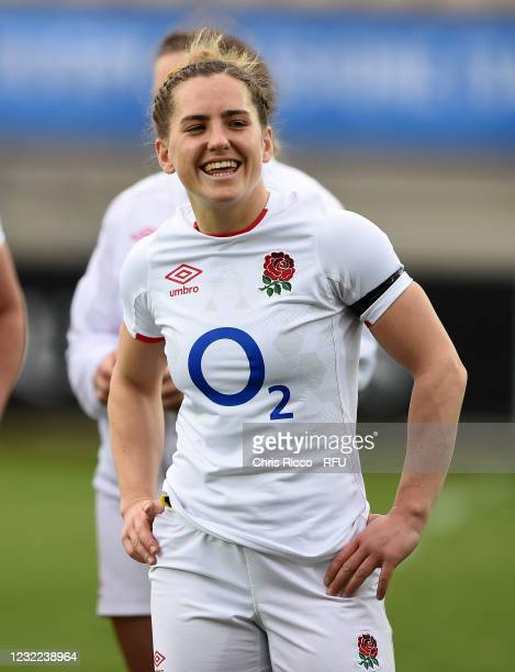 Claudia MacDonald of England during the Women's Six Nations match between Italy and England at Stadio Sergio Lanfranchi on April 10, 2021 in Parma,...