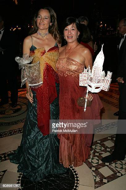 Claudia Madrazo de Hernandez and Alicia Rodriguez attend EL MUSEO'S GALA 2007 'A MASKED BALL' at Cipriani's 42nd St on May 24 2007 in New York City