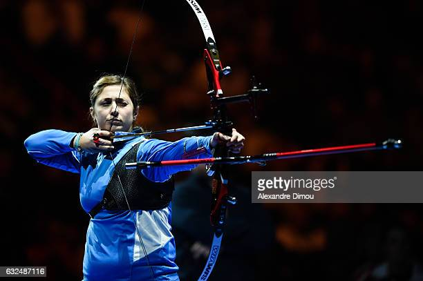 Claudia Mandia of Italia during the Stage World Cup Indoor on January 22 2017 in Nimes France