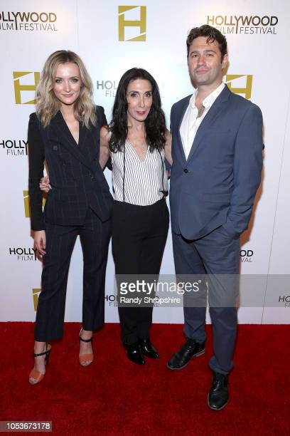 Claudia Maree Mailer Jennifer Gelfer and John Buffalo Mailer attend the 2018 Hollywood Film Festival Honors Ceremony at Hollywood Roosevelt Hotel on...
