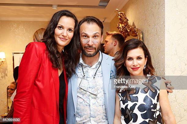 Claudia Mason Alexander Klaus Stecher and Viktoria Lauterbach attend the ESCADA Flagship Store Opening on June 23 2016 in Duesseldorf Germany