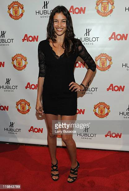 Claudia Mason attends Hublot Art of Fusion fashion show with Sir Alex Ferguson Manchester United at Cipriani Wall Street on July 25 2011 in New York...