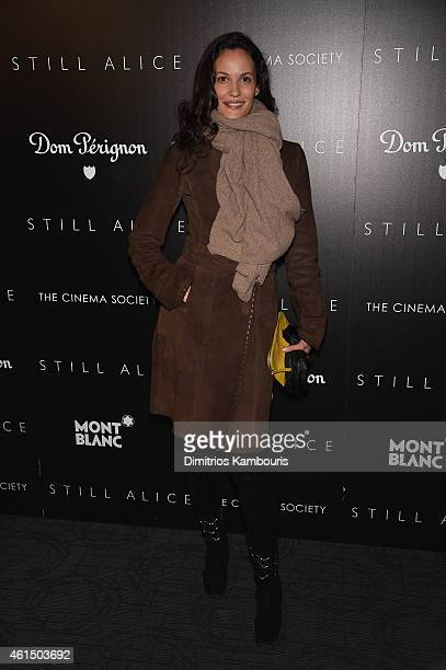 Claudia Mason attends The Cinema Society with Montblanc and Dom Perignon screening of Sony Pictures Classics' 'Still Alice' at Landmark's Sunshine...