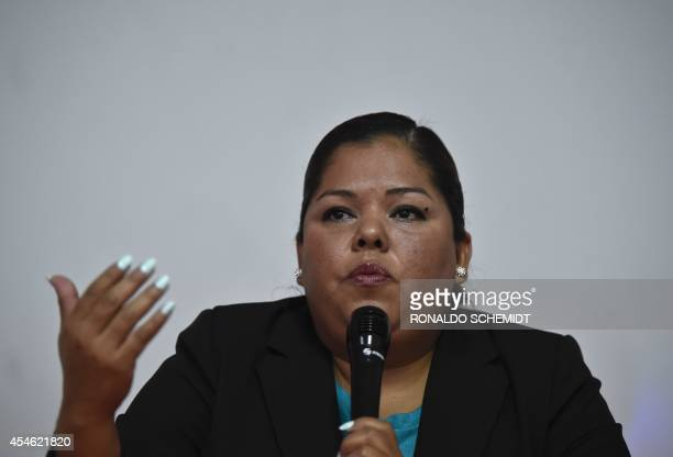 Claudia Medina survivor and victim of torture speaks about the report entitled 'Out of control Torture and other illtreatment in Mexico' on September...