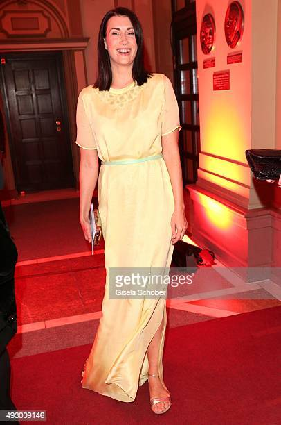 Claudia Mehnert during the Hessian Film and Cinema Award 2015 at Alte Oper on October 16 2015 in Frankfurt am Main Germany