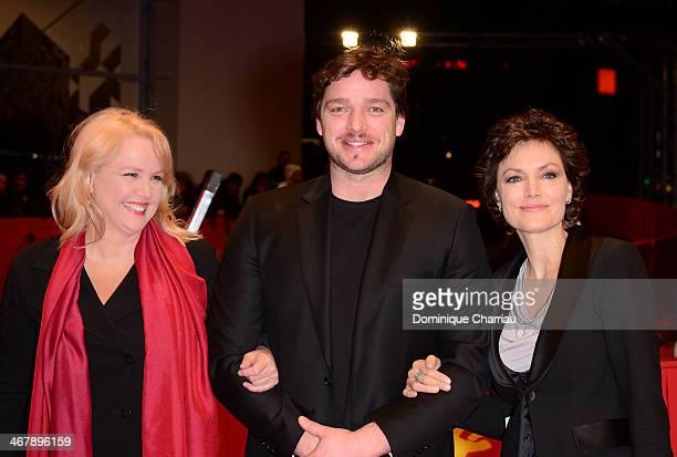 Claudia Messner Ronald Zehrfeld and Maja Maranow attend 'Beloved Sisters' premiere during 64th Berlinale International Film Festival at Berlinale...