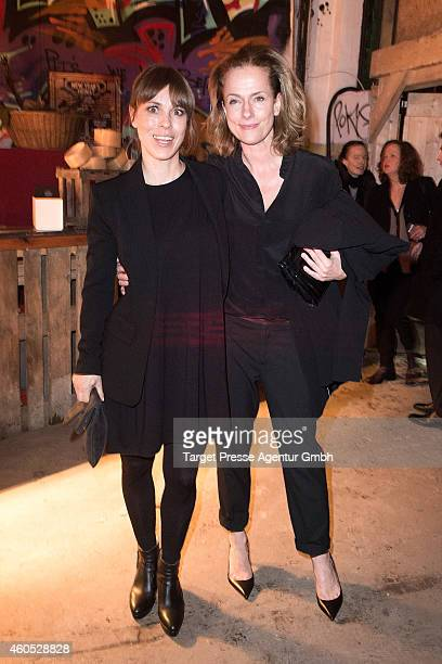 Claudia Michelsen and Anneke Kim Sarnau attend the 'Honig im Kopf' Premiere party at Neue Heimat on December 15 2014 in Berlin Germany