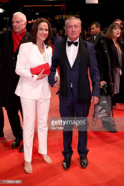 Claudia Michelsen and Udo Kier attend the The Kindness Of Strangers premiere during the 69th Berlinale International Film Festival Berlin at...