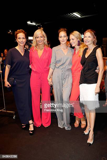 Claudia Michelsen Judith Milberg Jeanette Hain Anna Lauerbach and Ursula Karven attend the Laurel show during the MercedesBenz Fashion Week Berlin...