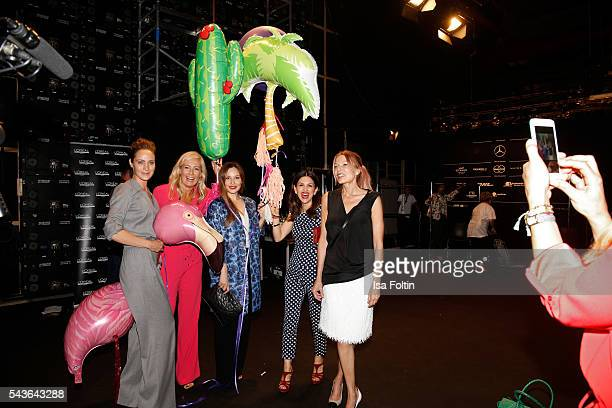 Claudia Michelsen Judith Milberg Mina Tander Viktoria Lauterbach and Ursula Karven attend the Laurel show during the MercedesBenz Fashion Week Berlin...