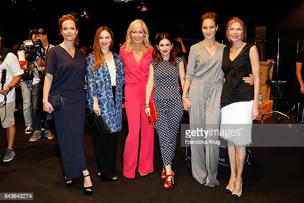 Claudia Michelsen Mina Tander Judith Milberg Viktoria Lauterbach Jeanette Hain and Ursula Karven attend the Laurel show during the MercedesBenz...