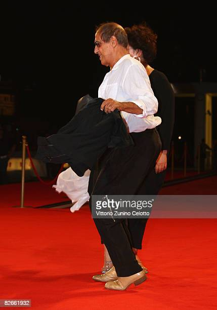 Claudia Mori and actor Adriano Celentano attends the Yuppi Du premiere at the Sala Grande during the 65th Venice Film Festival on September 4 2008 in...