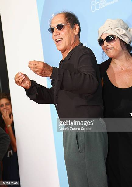 Claudia Mori and Adriano Celentano attend the 'Yuppi Du' photocall at the Piazzale del Casino during the 65th Venice Film Festival on September 4...