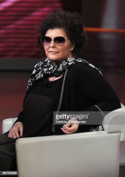 Claudia Mori attends 'Che Tempo Che Fa' Italian Tv Show on January 30 2010 in Milan Italy