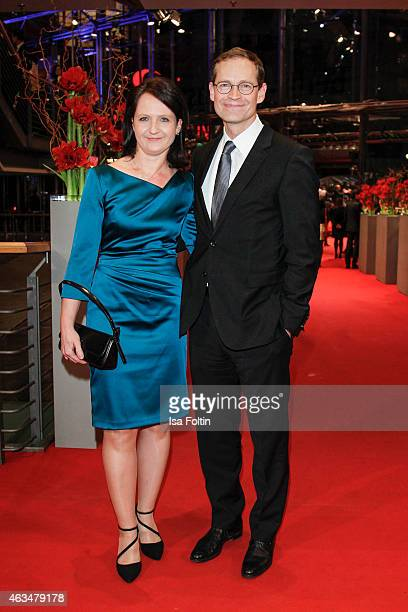 Claudia Mueller and Michael Mueller attend the Closing Ceremony of the 65th Berlinale International Film Festival on February 14 2015 in Berlin...