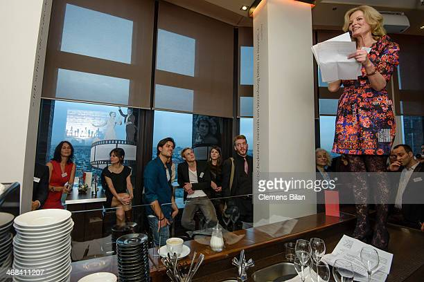 Claudia Neidig attends the Agentur Neidig Reception at the Glashuette Lounge on February 10 2014 in Berlin Germany