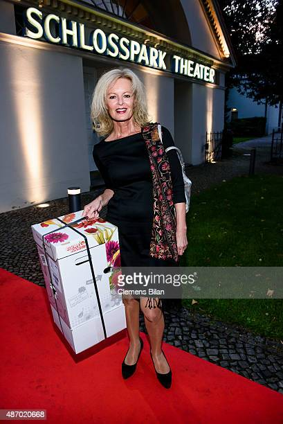 Claudia Neidig attends the theatre premiere of 'Amadeus' with Dieter Hallervorden celebrating his 80th birthday on September 5 2015 in Berlin Germany