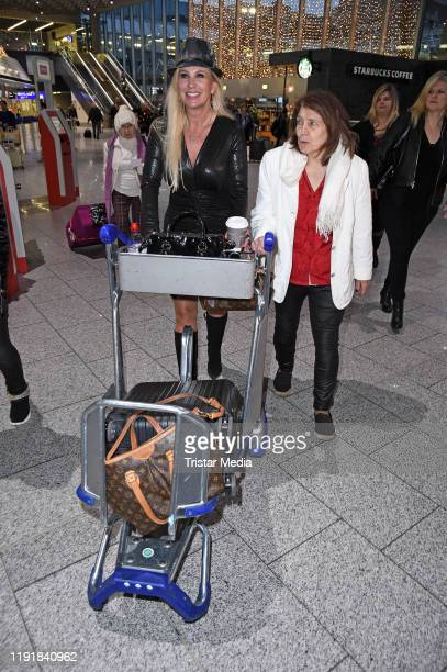 Claudia Norberg and her mother Waltraud Norberg leave for RTL TV show 'I'm a celebrity Get Me Out Of Here' in Australia at Frankfurt International...
