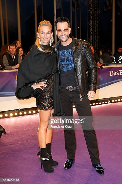 Claudia Norberg and Michael Wendler pose on the red carpet prior the Echo award 2014 on March 27, 2014 in Berlin, Germany.