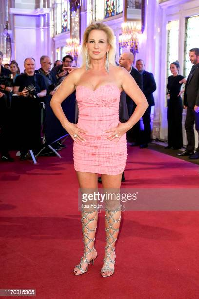 Claudia Norberg at the premiere of Mamma Mia Das Musical at Stage Theater des Westens on September 22 2019 in Berlin Germany