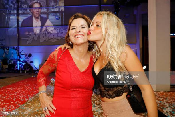 Claudia Obert and Evelyn Burdecki attend the finals of 'Promi Big Brother 2017' at MMC Studio on August 25 2017 in Cologne Germany