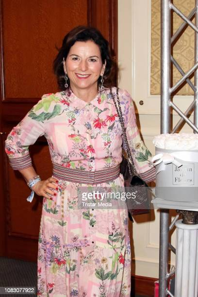 Claudia Obert attends the Julian FM Stoeckel Public Viewing Party For 'Ich bin ein Star Holt mich hier raus' at Hotel Palace on January 11 2019 in...
