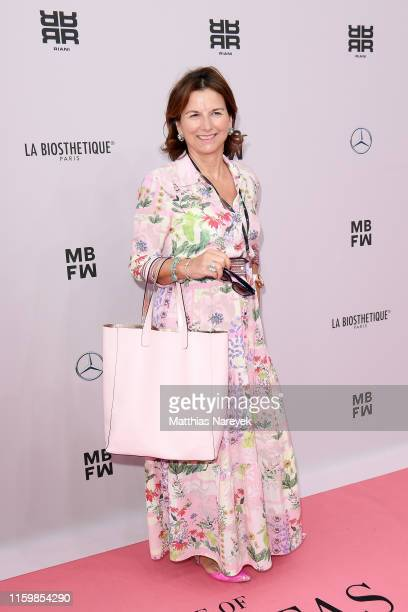 Claudia Obert attends the Riani show during the Berlin Fashion Week Spring/Summer 2020 at ewerk on July 03 2019 in Berlin Germany