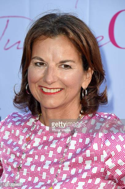 """Claudia Obert during the """"Golden Things meets Pink Carpet"""" pre-closing Finissage at Studio 28 on July 21, 2020 in Hamburg, Germany."""