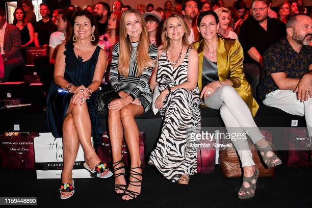 Claudia Obert Jenny Elvers Tina Ruland and Ulrike Frank attend the Guido Maria Kretschmer show during the Berlin Fashion Week Spring/Summer 2020 at...