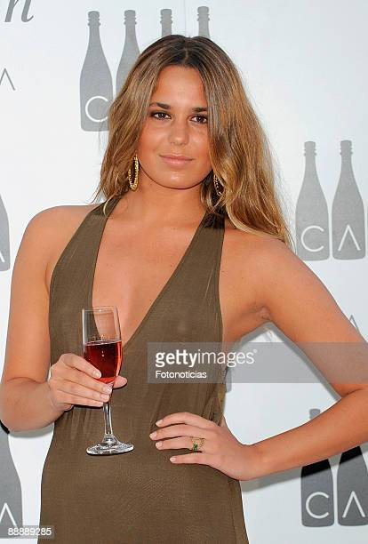 Claudia Ortiz Domecq attends Cava Rosado cocktail party, at Villa Magna Hotel on July 7, 2009 in Madrid, Spain.