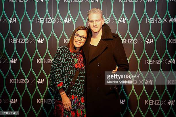Claudia Oszwald Country Manager HM Austria and singer Lucas Fendrich attend the KENZO x HM PreShopping Event on November 2 2016 in Vienna Austria