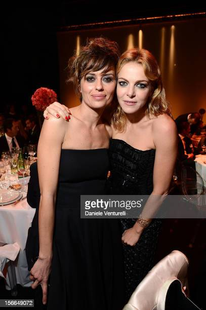 Claudia Pandolfi and Claudia Gerini attend the J/P HRO Charity Auction Dinner on November 17 2012 in Rome Italy