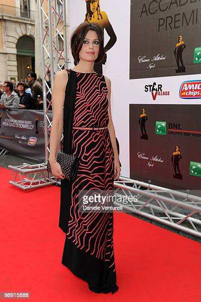 Claudia Pandolfi attends the 'David Di Donatello' movie awards at the Auditorium Conciliazione on May 7 2010 in Rome Italy