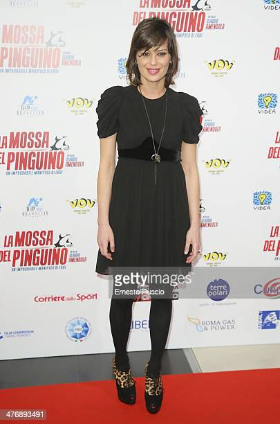 Claudia Pandolfi attends the 'La Mossa Del Pinguino' premiere at Cinema Adriano on March 5 2014 in Rome Italy