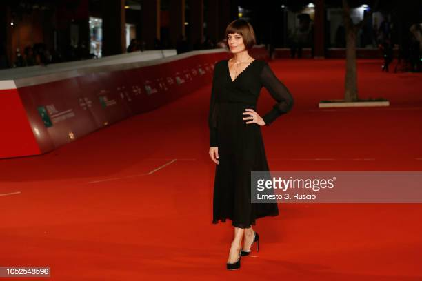 Claudia Pandolfi walks the red carpet ahead of the Il Vizio Della Speranza screening during the 13th Rome Film Fest at Auditorium Parco Della Musica...