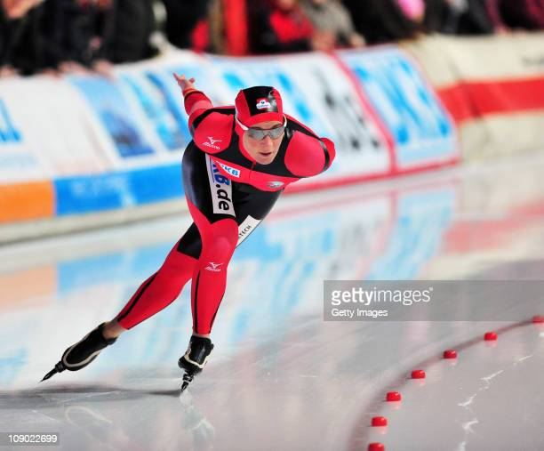 Claudia Pechstein of Germany competes during a international competition on February 12 2011 in Erfurt Germany Pechstein received a twoyear ban by...