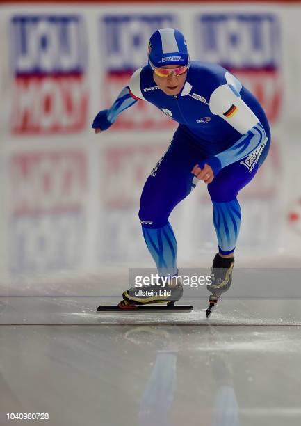 Claudia Pechstein waehrend der Deutschen Eisschnelllauf Meisterschaft in der Max Aicher Arena am 27. Oktober 2017 in Inzell.