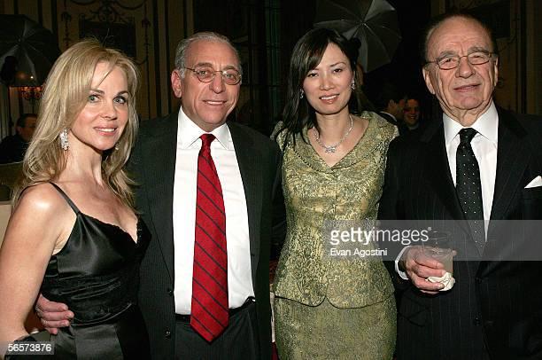 Claudia Peltz husband Nelson Peltz Wendy Deng and husband honoree Rupert Murdoch chairman of News Corp attend the Simon Weisenthal Center honors...