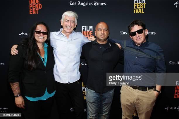 Claudia Perez Romi Kessler Mel Tillekeratne and Rudy Salinas attend the screening of The Advocates during the 2018 LA Film Festival at ArcLight...