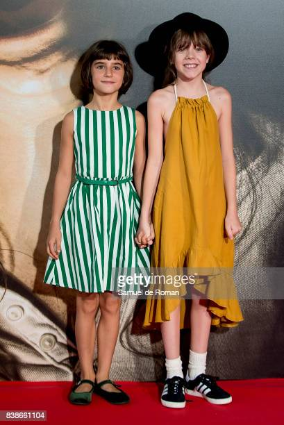 Claudia Placer and Bruna Gonzalez attends the 'Veronica' Madrid Premiere on August 24 2017 in Madrid Spain
