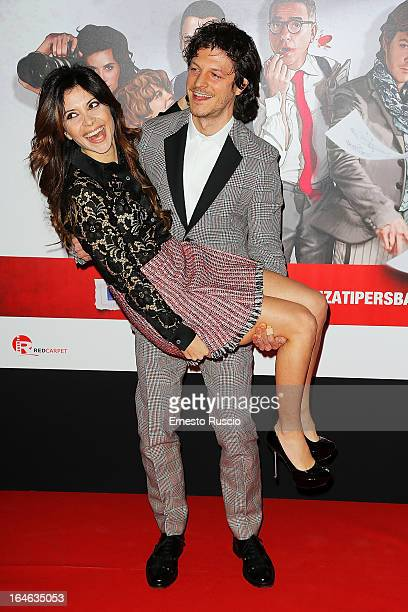 Claudia Potenza and Andrea Boccia attend the 'Outing' premiere at Cinema Adriano on March 25 2013 in Rome Italy