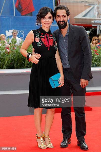 Claudia Potenza and Domenico Chiarello attend the JaegerLeCoultre Glory To The Filmmaker Award To Amir Naderi and premiere of 'Mountain' during the...