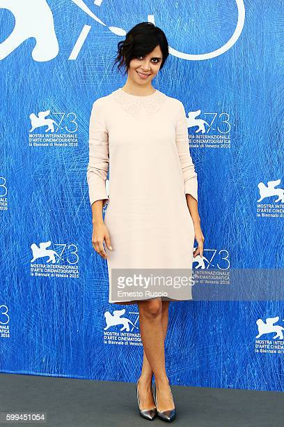Claudia Potenza attends a photocall for 'Mountain' during the 73rd Venice Film Festival at on September 5 2016 in Venice Italy