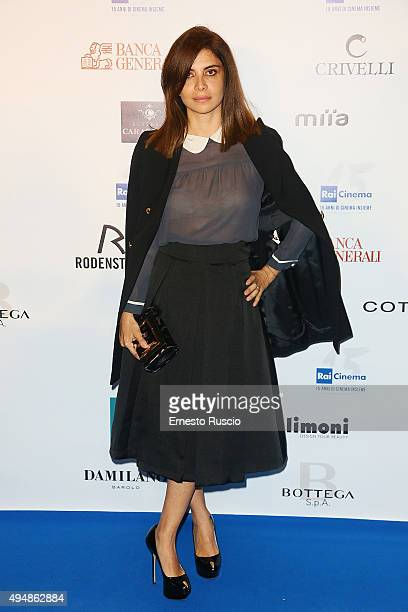 Claudia Potenza attends a photocall for the 'RAI Cinema 15th Anniversary' on October 29 2015 in Rome Italy