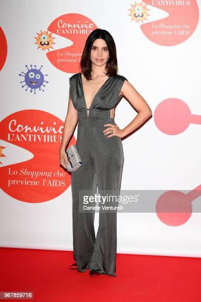 Claudia Potenza attends Convivio photocall on June 5 2018 in Milan Italy