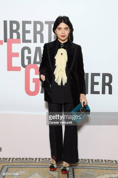 Claudia Potenza attends 'Grazia Scandal' party during Milan Fashion Week Fall/Winter 2018/19 on February 21 2018 in Milan Italy