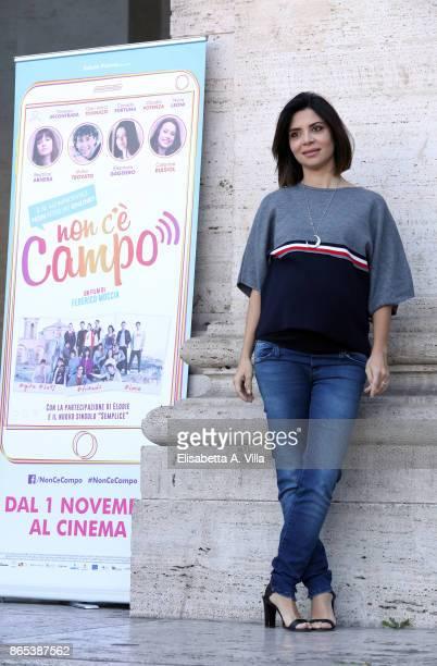 Claudia Potenza attends 'Non C'e' Campo' photocall on October 23 2017 in Rome Italy